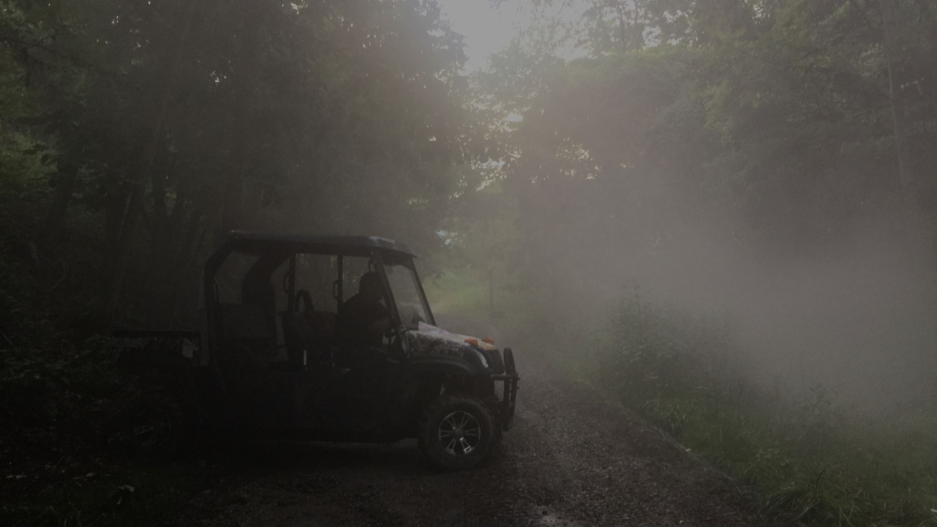 SFX fog in the woods of Pittsburgh Studios